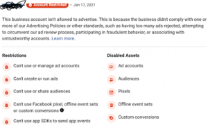 What to Do If Your Facebook Ad Account Gets Disabled